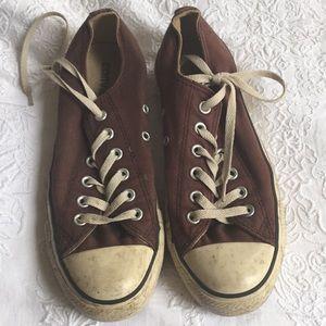 Brown Converse All Stars